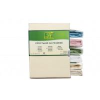 ПР-СО-150-КРЕМ Кремовая Простынь ткань Сатин однотонный 150х214