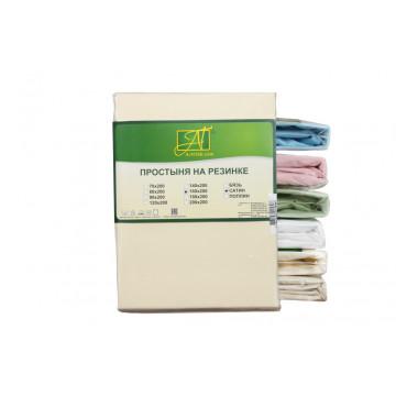 ПР-СО-180(180)-КРЕМ Кремовая Простынь ткань Сатин однотонный 180х214