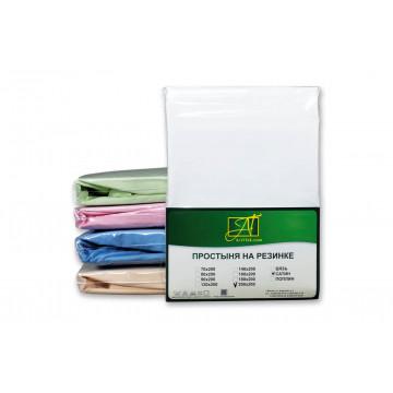 ПР-СО-280-БЕЛ Белая Простынь ткань Сатин однотонный 220х280