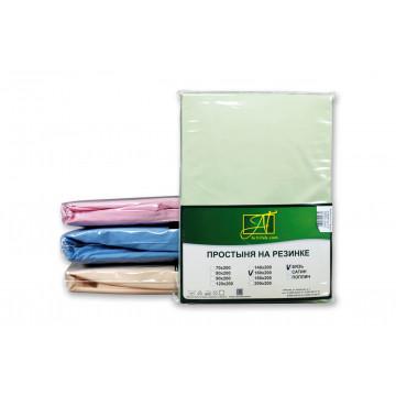 ПР-СО-22-САЛ Салатовая Простынь ткань Сатин однотонный 214х220