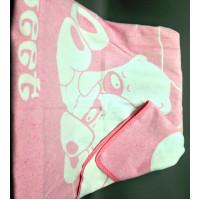 "Одеяло маленькое ""Сони"" 100х140 бело-розовое"