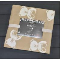 Дымчатый Мишки 57-8ЕТЖ Премиум 100х140 100% х/б Байковое жаккард Ермолино одеяло
