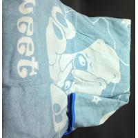 """Одеяло маленькое """"Сони"""" 100х140 бело-голубое"""
