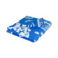 Синее Дельфины 57-8ЕТЖ 100х140 100% х/б Байковое жак Ермолино одеяло