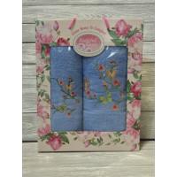 Небесный Райская Бабочка (50х90+70х140) комплект полотенец в коробке VILENA
