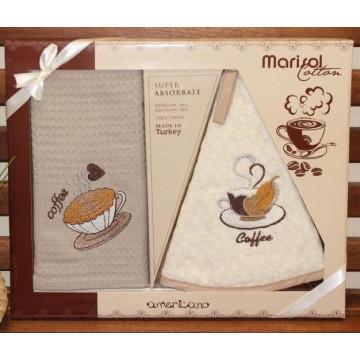 8416 Кофе В (50х70+D-50 ) в коробке Набор кухонный METEOR MARISOL