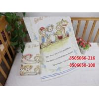 ZH049 Желтая Bears Family МВ 110х110 Простыня 7-Y