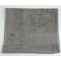Коричневый Bamboo 50х90 бамбук полотенце (1шт) Фиеста