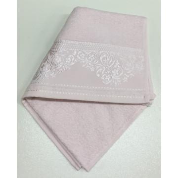Розовый YASEMIN 70х130 хлопок М полотенце (1шт) Фиеста