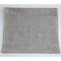 Серо-бежевый Bamboo 50х90 бамбук полотенце (1шт) Фиеста
