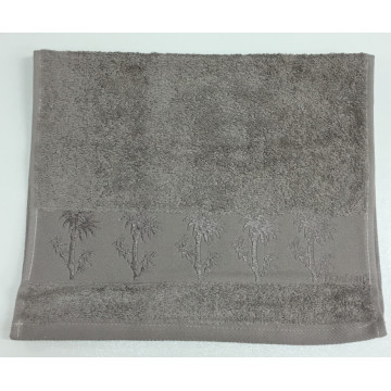 Коричневый Bamboo 70х130 бамбук полотенце (1шт) Фиеста