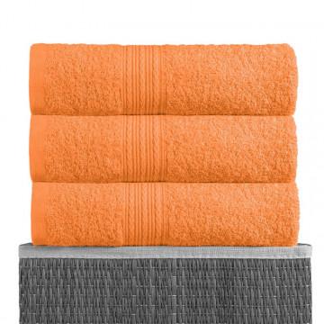 Оранжевый 40х70 Полотенца махровое 1 шт BAYRAMALY