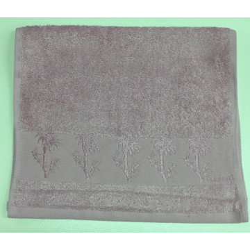 Слиловый Bamboo 50х90 бамбук полотенце (1шт) Фиеста