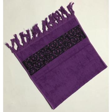 Фиолетовый Classik 70х130 бамбук полотенце (1шт) Фиеста