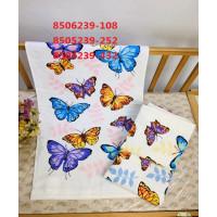8504239-432 Бабочки М 34х75 (12) полотенце 7-Y