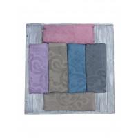 500888-Серый-150х200 Покрывало Махровое 7Я Текстиль