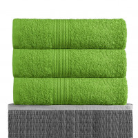 Зеленый 100х180 Полотенца махровое 1 шт BAYRAMALY