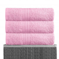 Розовый 100х180 Полотенца махровое 1 шт BAYRAMALY
