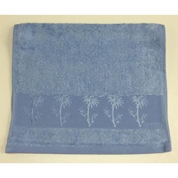 Голубой Bamboo 70х130 бамбук полотенце (1шт) Фиеста