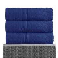 Темно-синий 100х180 Полотенца махровое 1 шт BAYRAMALY