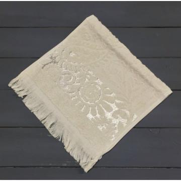 Бежевый SAL 30х50 хлопок М полотенце (1шт) Фиеста