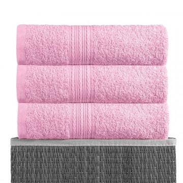 Розовый 70х140 Полотенца махровое 1 шт BAYRAMALY