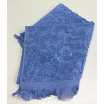 Синий ORIENT 50х90 хлопок М полотенце (1шт) Фиеста