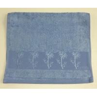 Голубой Bamboo 50х90 бамбук полотенце (1шт) Фиеста