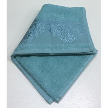Морская волна YASEMIN 70х130 хлопок М полотенце (1шт) Фиеста