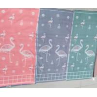 178G3 Цветное Фламинго х/б ткань двухслойное 34х74 (12) Полотенце Северный город