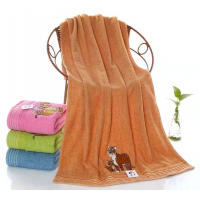 M4004-Тигрята 35х75( 12 шт ) полотенце махра с вышивкой Символ года
