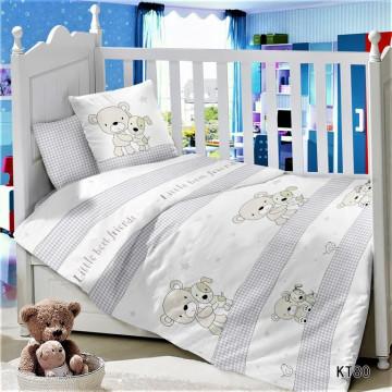 CДA-10-015/KT-80 Маленькие друзья КПБ Детский в кроватку Сатин АльВиТек
