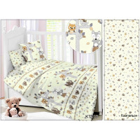 CДA-10-038/KT-116 Лисята и Совята КПБ Детский в кроватку Сатин АльВиТек