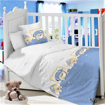 CДA-10-020/KT-90 Мишутки КПБ Детский в кроватку Сатин АльВиТек