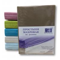 ПМР-МОК-160 Мокко простыня махровая на резинке 160х200+20
