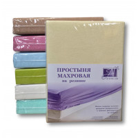 ПМР-КРЕМ-090 Кремовая простыня махровая на резинке 090х200+20