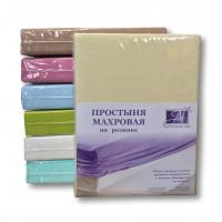 ПМР-КРЕМ-140 Кремовая простыня махровая на резинке 140х200+20