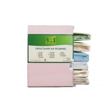 ПР-СО-Р-200-РОЗ Розовая простыня Сатин однотонный на резинке 200х200х25