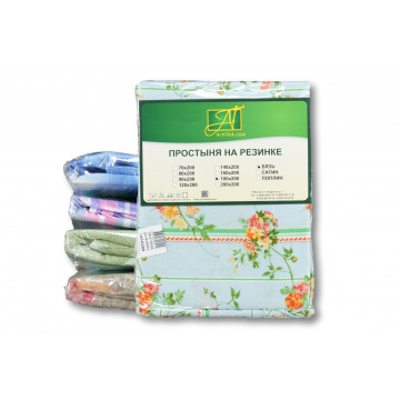 ПР-Р-070 Простыня на резинке 070х200 ткань бязь