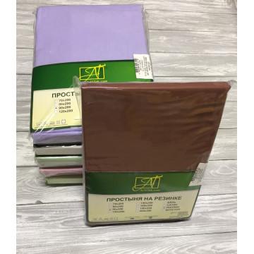 ПР-ПО-Р-140-ШОК Шоколадная простыня Поплин однотонная на резинке 140х200х25