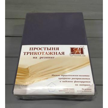 ПТР-ГРА-200 Графит простыня трикотажная на резинке 200х200х20