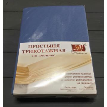 ПТР-ГЕЛЬ-160 Голубая Ель простыня трикотажная на резинке 160х200х20