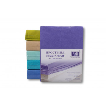 ПМР-ФА-140 Фиолетовая Астра простыня махровая на резинке 140х200+20